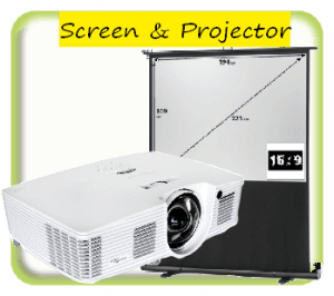 Projector and screen package options