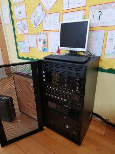 Sound mixer rack for school hall installation essex