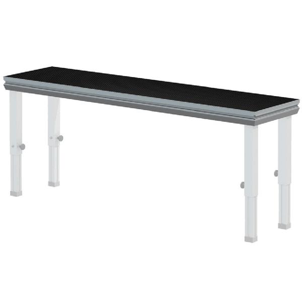 Portable stage deck 0. 5m x 1m global truss black stage rental in harlow