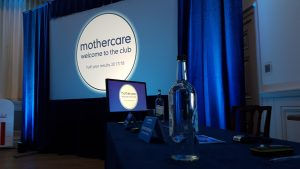 Example of screen size and ratio in presentations this is a 16:9 image featuring mothercare logo