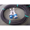 63A blue single phase mains rubber cable rent