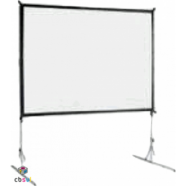 Fast fold projector screen setup