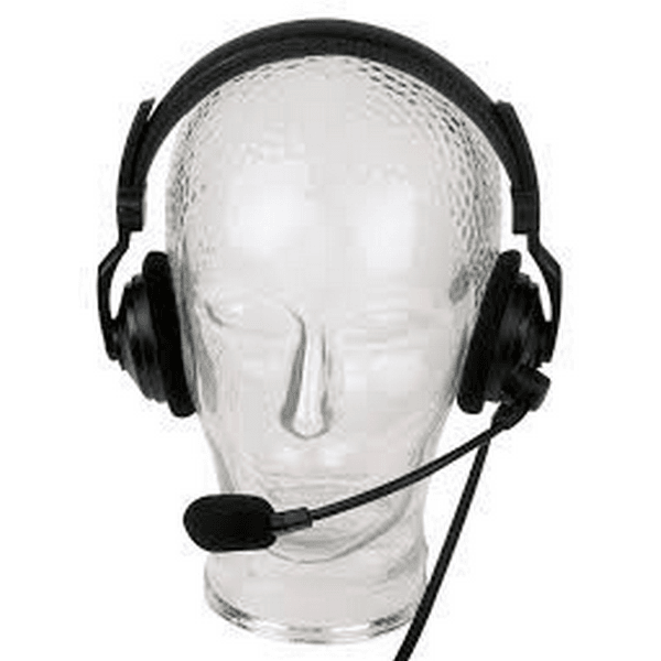 Lightweight dual muff intercom headset