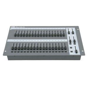 simple 12 channel DMX lighting desk