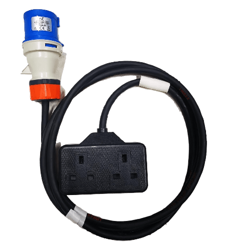Double 13a mains cable