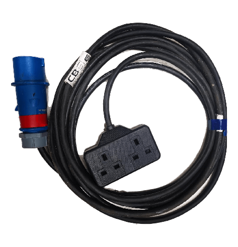 Double 13a mains cable 16a