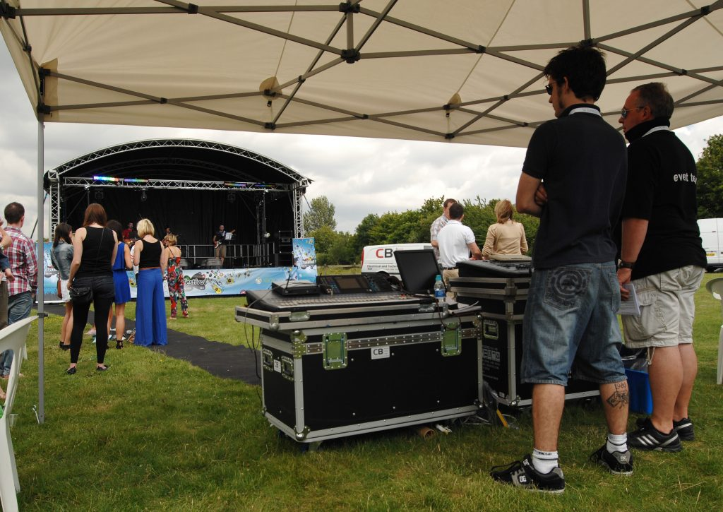 Local outdoor stages and management for pa sound and stage in harlow