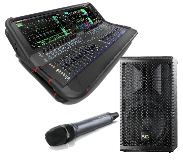 Speaker, mixing desk, microphone hire category essex