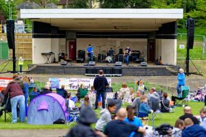 Speakers and production harlow bandstand