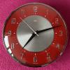 Stunning Red and Chrome Metamec Battery Clock