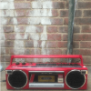 Red Panasonic Portable Radio Cassette Boombox